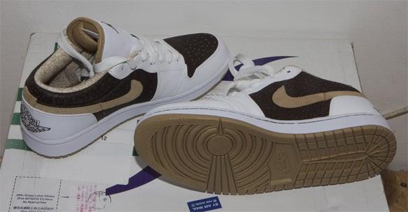 Air Jordan I (1) Low - Brown Cement Print