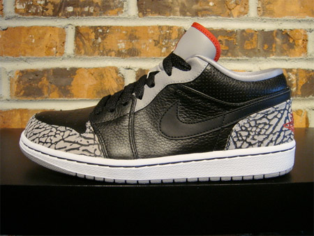 Air Jordan I (1) Low Phat - Cement Print
