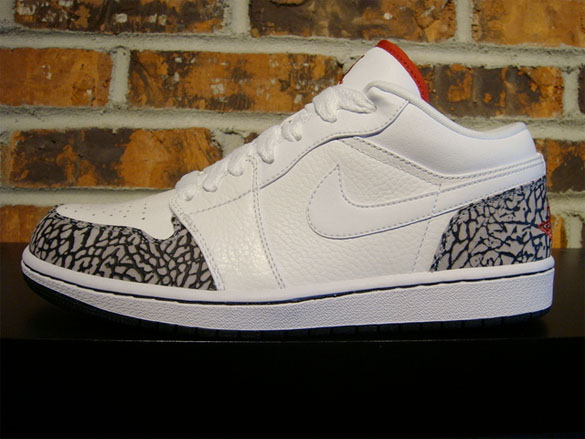 Air Jordan I (1) Low Phat - Cement Print