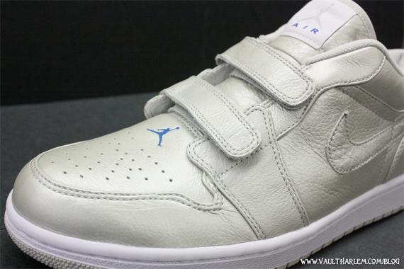 Air Jordan I (1) Velcro Premier Low - Jetstream / Blue - Sapphire