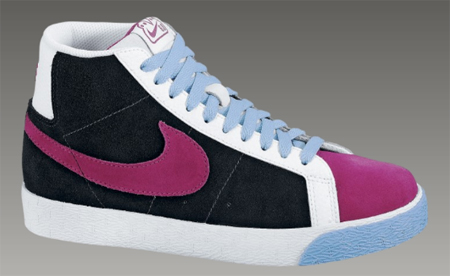 Nike 6.0 Womens Blazer Mid - Black / Rave Pink
