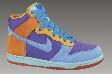 ... Nike 6.0 Womens Dunk High - Pure Purple Pro Cyan - Brght Coral ... 2bf3eb289a