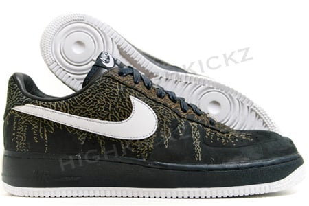 Nike Air Force 1 Low - Dark Navy / Black - White