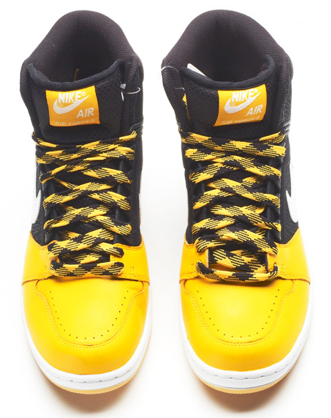 Nike Air Force II (2) High - Black / White - Pro Gold - Gum Yellow