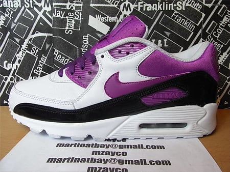 Nike Air Max 90 Sample - White / Purple / Black