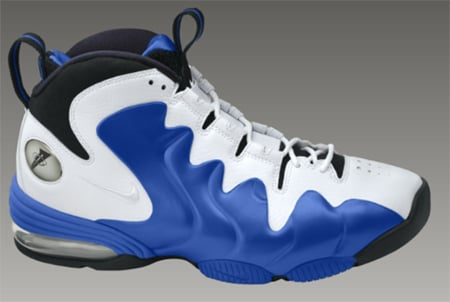 Nike Air Penny III (3) - White / White - Varsity Royal - Black