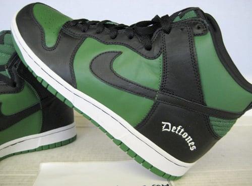 buy online c97ee 17348 Nike Dunk High Deftones Black   Classic Green