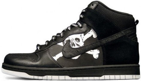Nike Dunk High FC St. Pauli Black / Black – Medium Grey