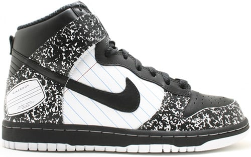 Nike Dunk High Notebook White / Black – University Blue