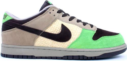 Nike Dunk Low Aloha Khaki / Baroque Brown - Mean Green