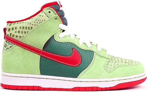 save off a2eba 893b2 Nike Dunk SB High Dr. Feelgood Forest  Varsity Red