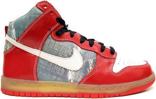 Nike Dunk SB High Shoe Goo Silver / White