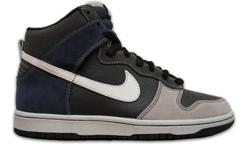 Nike Dunk SB High Un-Futura Anthracite / Metallic Summit White