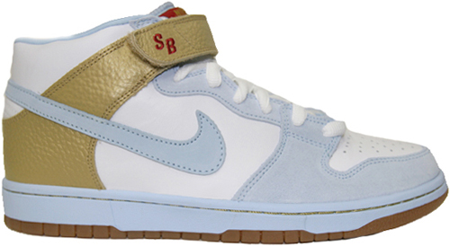 Nike Dunk SB Mid Clubber Lang White / Ice Blue