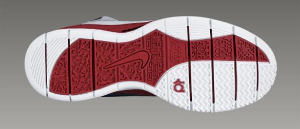 Nike KD1 - White   Black - Varsity Red - Metallic Silver  028b1e16095b