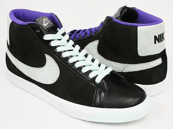 Nike SB Blazer Mid Premium - Black / Ice Green