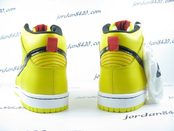 Nike SB Dunk High Premium - Yellow / Black - White