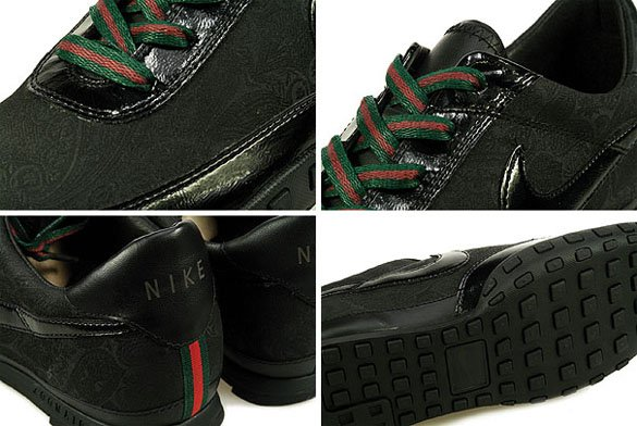 Nike Waffle Racer 3 - Gucci - Black / Black - Red