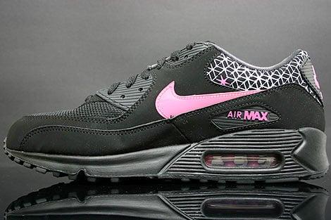 Nike Womens Air Max 90 - Black / Pink - White