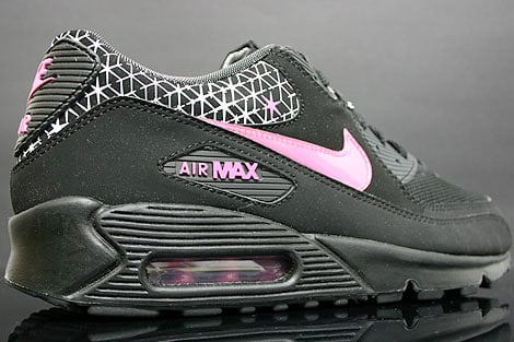 Nike Womens Air Max 90 - Black / Pink - White