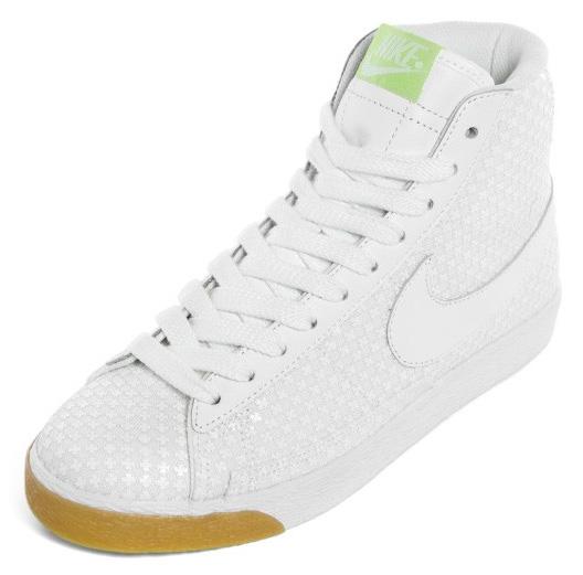 Nike Womens Blazer Mid Premium - White / White Gum - Volt