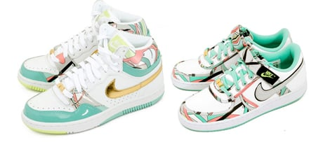 Nike Women's Court Force High & Vandal Low Pucci Pack