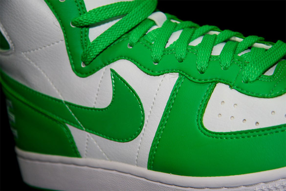 Nike Womens Terminator High - White / Hyper Verde