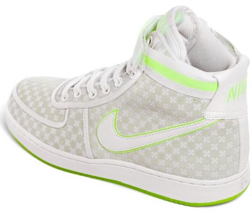 Nike Womens Vandal High Premium - Light Bone / White - Volt