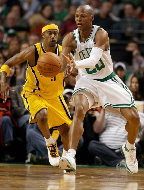 """On Court: Air Jordan 2009 (2K9) - Ray Allen """"Home"""" Player Exclusive (PE)"""