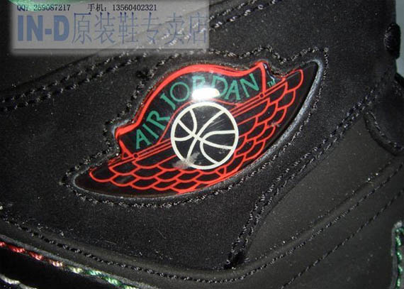 Air Jordan I (1) - Black / White - Classic Green - Varsity Red