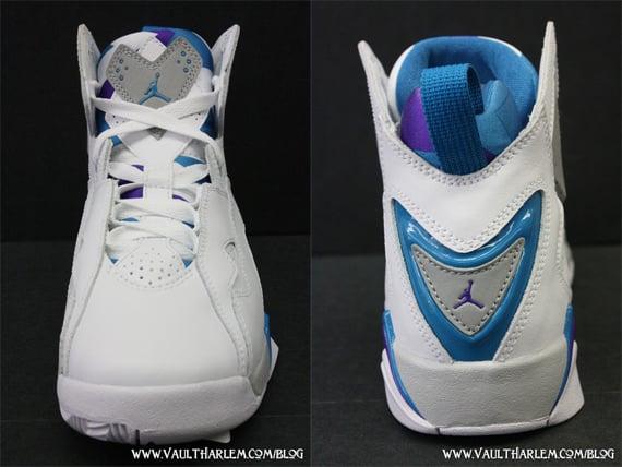 Air Jordan True Flight GS - White / Neon Turquoise