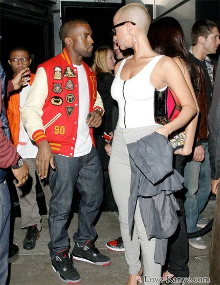 amber rose and kanye west pictures. Kanye West Wearing Air Jordan