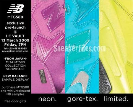New Balance MTG580 Neon Goretex Launch and Exhibition