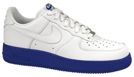 Nike Air Force 1 - White / White - Varsity Royal