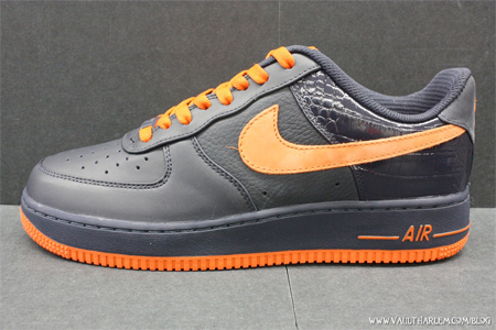 Nike Air Force 1 Low Premium - Dark Obsidian / Orange