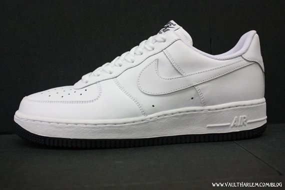Nike Air Force One '07 - White / White - Dark Obsidian