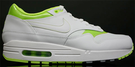 Nike Air Max 1 - White / Volt - Metallic Silver