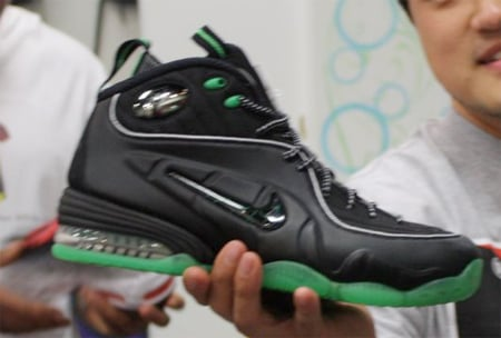 Nike Air Penny 1/2 Cent - Black / Green Spark - Metallic Silver
