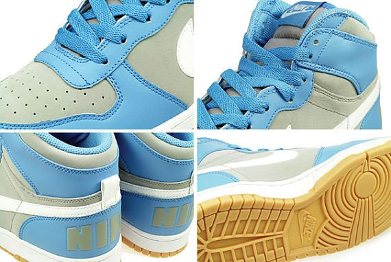 Nike Big Nike High - university blue / white / medium grey / gum yellow