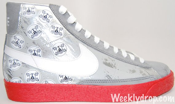 Nike Blazer High Helmets and Cross Bones - Metallic / Silver Red