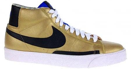 Nike Blazer High Premium - Gold / Black / Blue