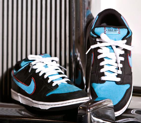 Nike Dunk Low Premium SB - Black/Baltic Blue