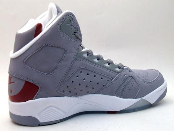 Nike Flight Lite High LE - Grey / Red / White 2
