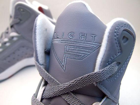 Nike Air Flight High Lite - Grey / Red / White 5