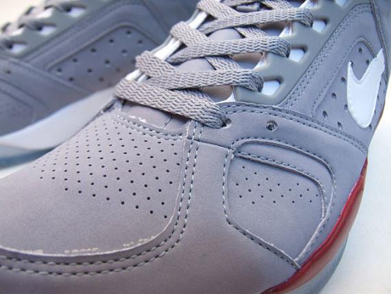 Nike Air Flight High Lite - Grey / Red / White 6