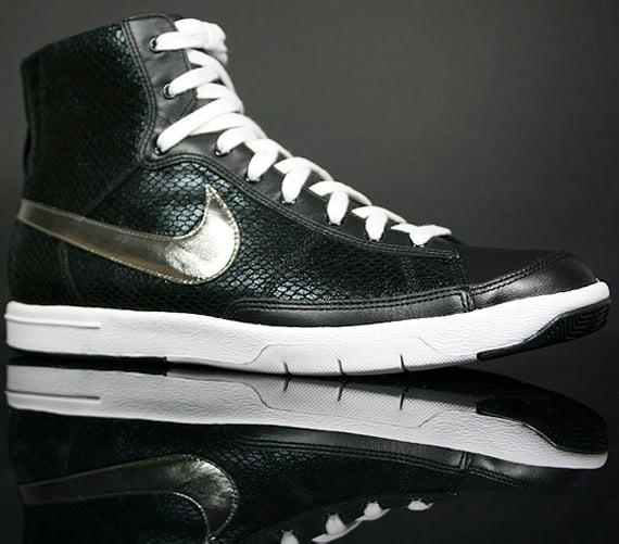 Nike Womens Blazer Mid - Black / Metallic Pewter - White