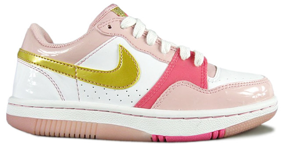Nike Womens Court Force Low - White / Pink / Gold