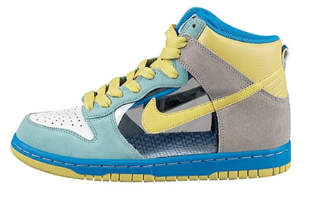 Nike Womens Dunk High 6.0 - Mint / Yellow / Translucent