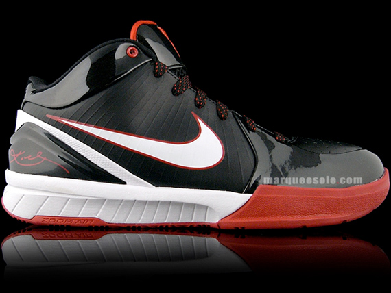 Nike Zoom Kobe IV (4) - Black / White - Red