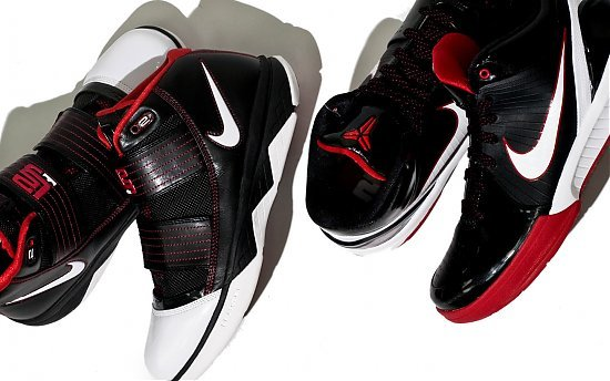 Nike Zoom Kobe IV (4) - Black / White / Red